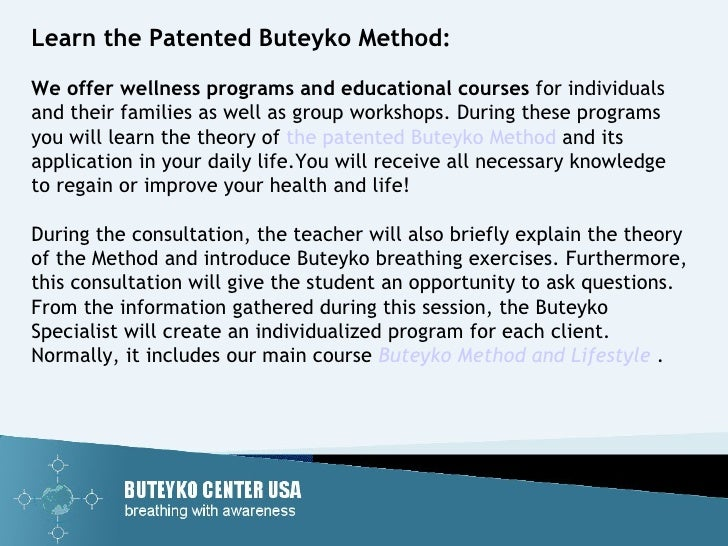 Advanced Buteyko Institute | Buteyko Breathing Courses ...