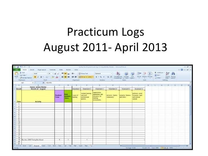 Practicum LogsAugust 2011- April 2013