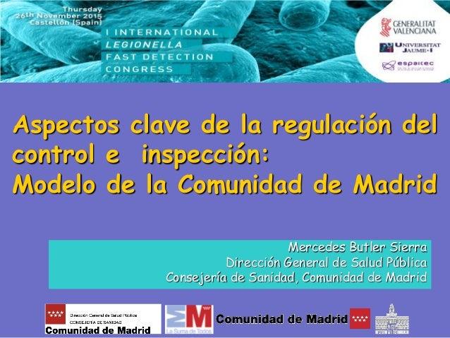 Aspectos clave de la regulaci n del control de legionella for Correo comunidad de madrid