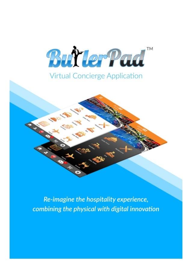 ButlerPad Virtual Hospitality App brochure