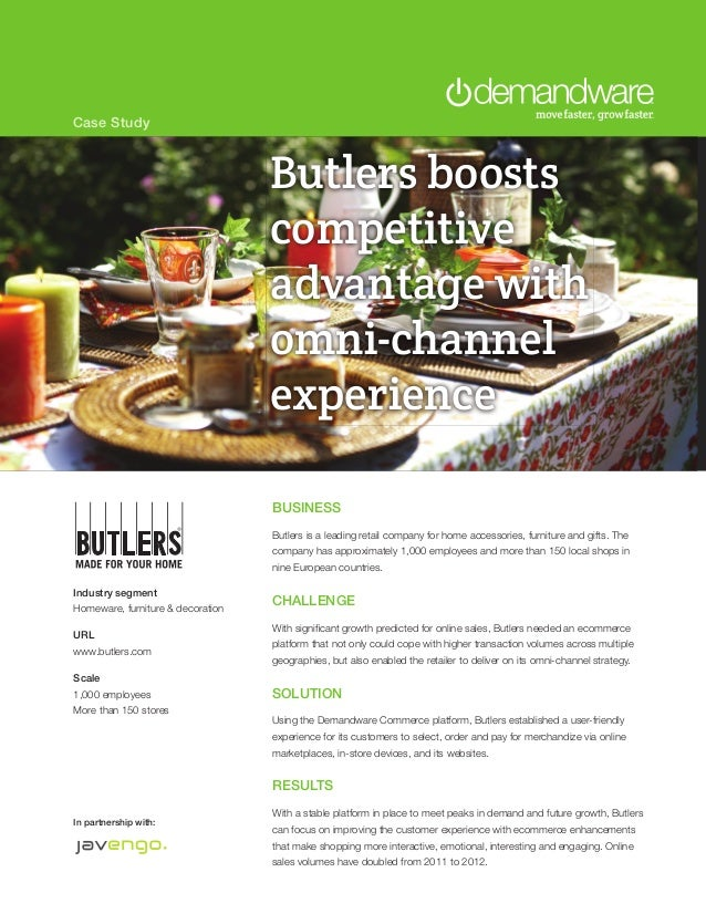 Case Study                                   Butlers boosts                                   competitive                 ...