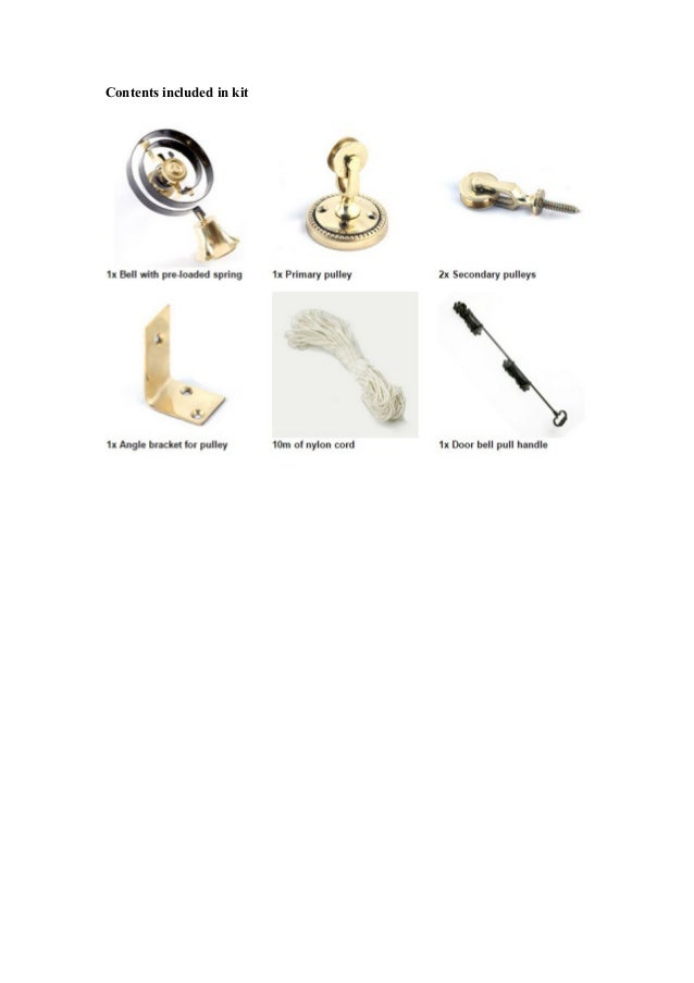 Butlers bell kit instructions
