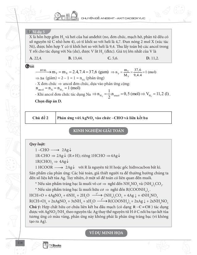 CHUY N : AN EHIT - AXIT CACBOXYLIC BTKL Y Xm m 2.4,7.4 37,6 (gam)= = = Y Y Y m 37,6 n 1 (mol) M 9,4.4 = = = n∆ 2ancol X Hn...