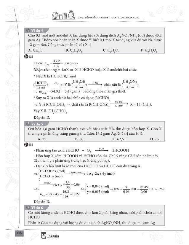 CHUY N : AN EHIT - AXIT CACBOXYLIC Ag 43,2 n 0,4 (mol) 108 = = 2H+ Na+ 0,1 mol 12 gam o t , xt 3 3AgNO /NH BTNT.C Ag Ag : ...