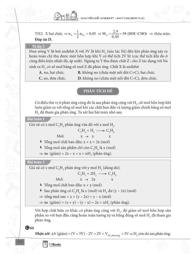 CHUY N : AN EHIT - AXIT CACBOXYLIC 2A H A 1 2,9 n .n 0,05 M 58 (HOC-CHO) 2 0,05 = = = = n∆ n∆ V∆