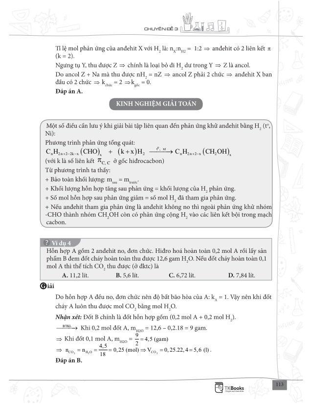 CHUY N 3 π 0 t , xt n 2n 2 2k x 2 n 2n 2 x 2x x C H CHO k x H C H CH OH+ − − + −+ + C, C π BTKL 9 4,5 (gam) 2 = 2 2 2CO H ...