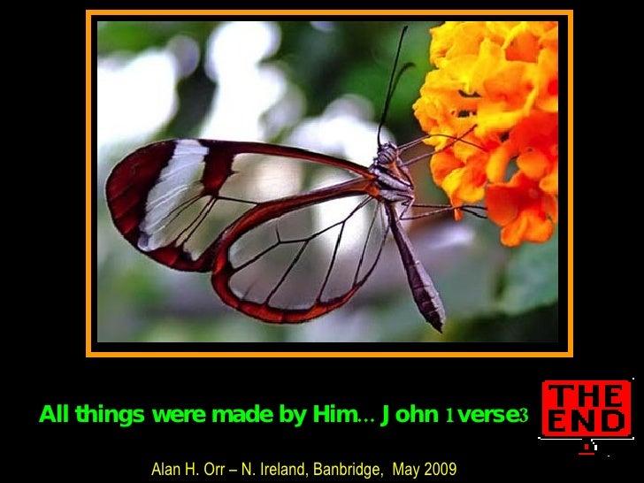 Alan H. Orr – N. Ireland, Banbridge,  May 2009 All things were made by Him... John 1verse3