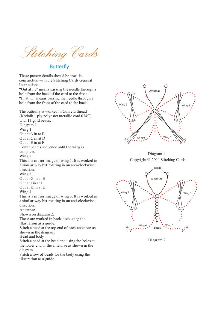 Stitching Cards                   ButterflyThese pattern details should be used inconjunction with the Stitching Cards Gen...