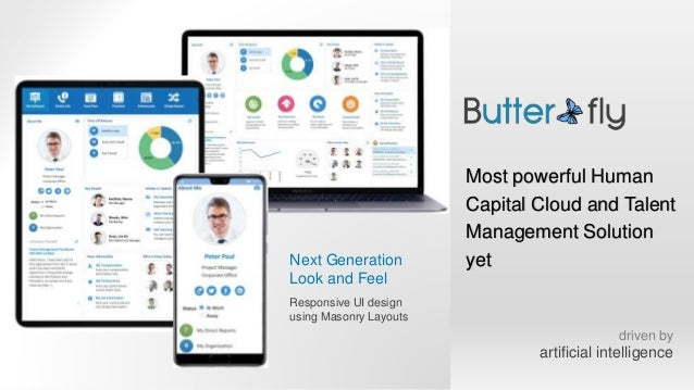 Next Generation Look and Feel Responsive UI design using Masonry Layouts Most powerful Human Capital Cloud and Talent Mana...