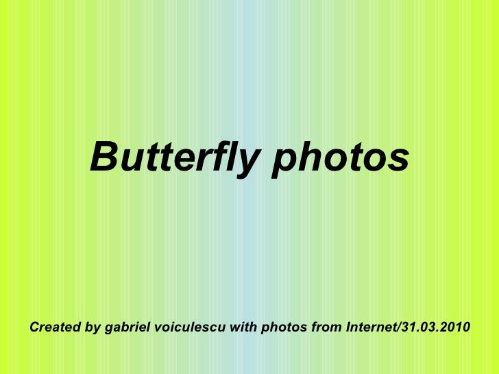Butterfly photos Created by gabriel voiculescu with photos from Internet/31.03.2010