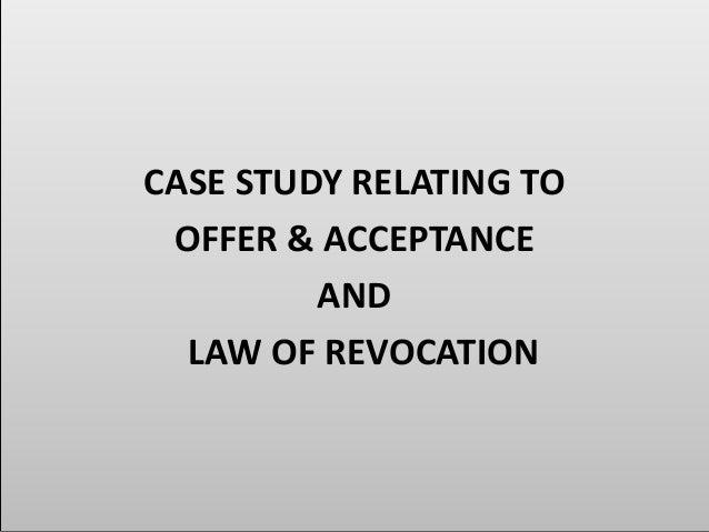 acceptance scenario study