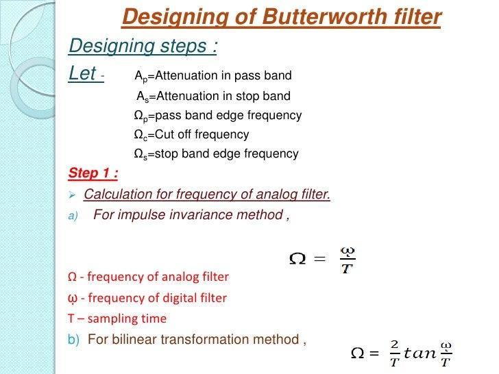 Butterworth filter design
