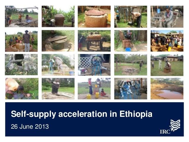 Self-supply acceleration in Ethiopia26 June 2013
