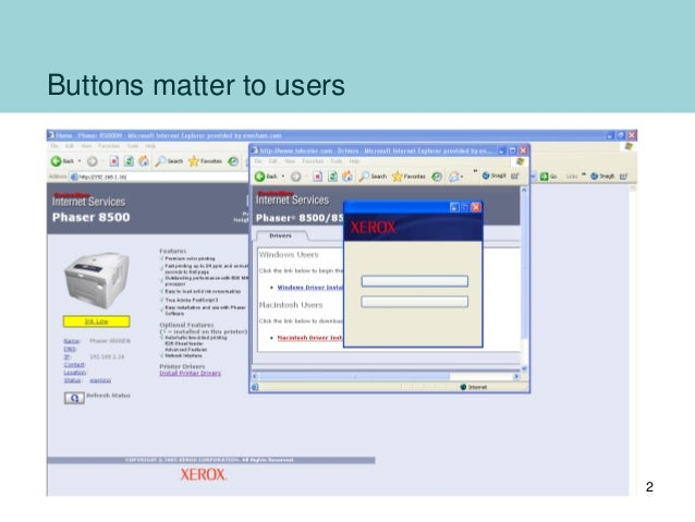 Buttons on forms and surveys: a look at some research 2012 Slide 2