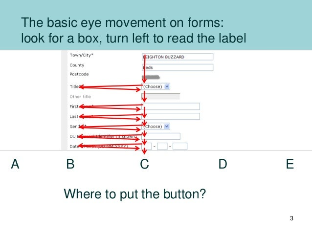 Buttons on forms and surveys: a look at some research 2012 Slide 3