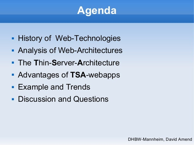 Thin Server Architecture SPA, 5 years old presentation Slide 2