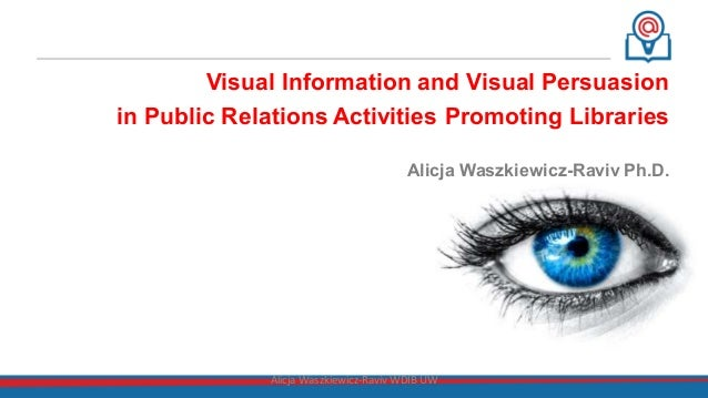 Visual Information and Visual Persuasion in Public Relations Activities Promoting Libraries Alicja Waszkiewicz-Raviv Ph.D....