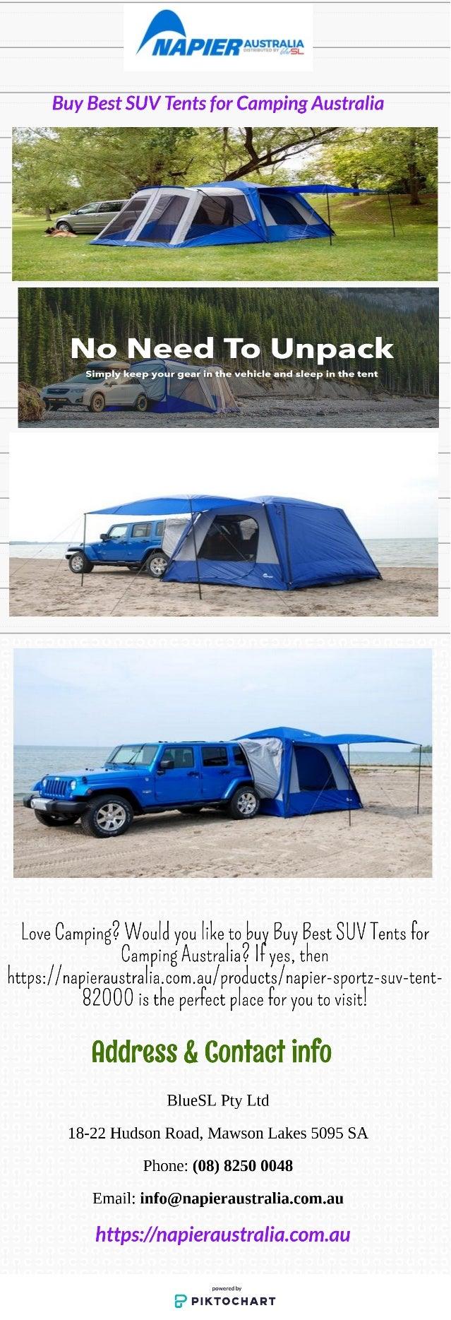 Buy Best SUV Tents for Camping Australia - Napieraustralia