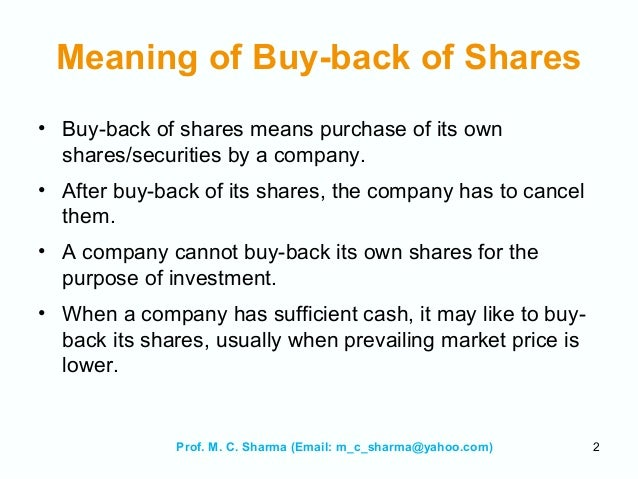 Share buybacks: How does a company benefit from buying back shares
