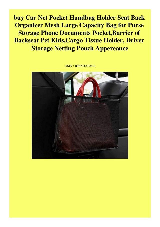 Barrier of Back Seat Pet Seat Back Organizer Net Bag Handbag Holder Mesh Large Capacity Bag for Car Purse Storage Phone Documents Pocket Car Net Pocket Handbag Holder Driver Storage Netting Pouch