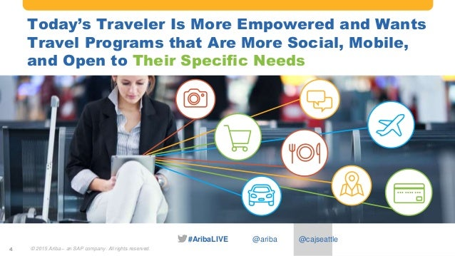 #AribaLIVE @ariba Today's Traveler Is More Empowered and Wants Travel Programs that Are More Social, Mobile, and Open to T...