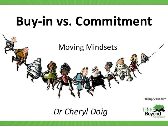 Buy-in vs. Commitment Dr Cheryl Doig Moving Mindsets