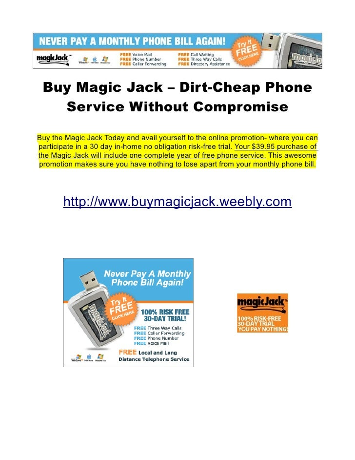 Buy Magic Jack – Dirt-Cheap Phone   Service Without CompromiseBuy the Magic Jack Today and avail yourself to the online pr...