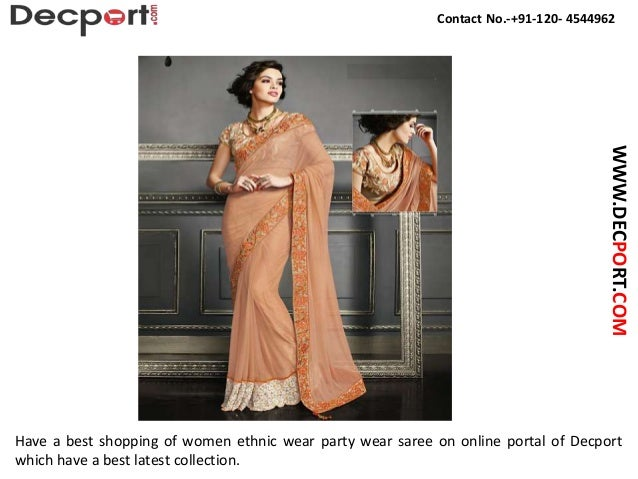 Buy Online Party Wear Saree In India Slide 2