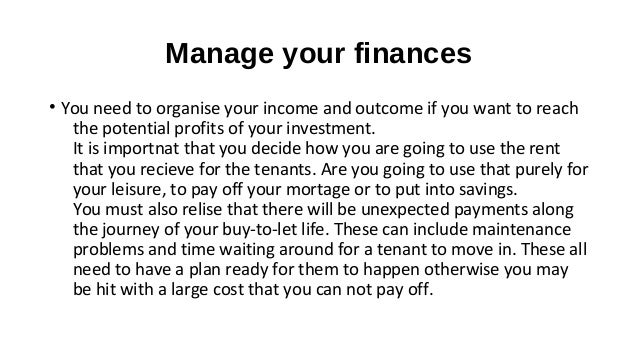 Buy to-let errors that need to be avoided Slide 2