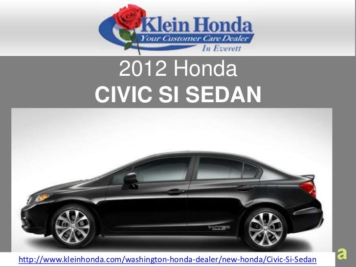 Honda Of Everett >> Buy A 2012 Honda Civic Sedan At Klein Honda In Everett For