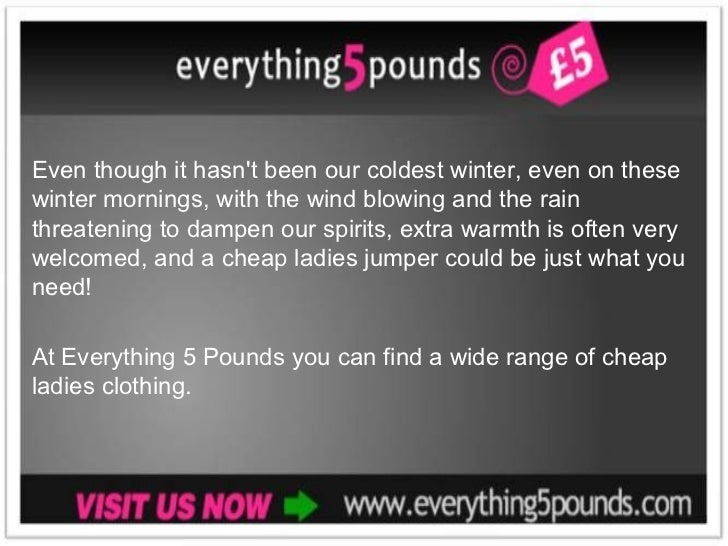 Buy A Discount Women 39 S Jumper From Everything 5 Pounds
