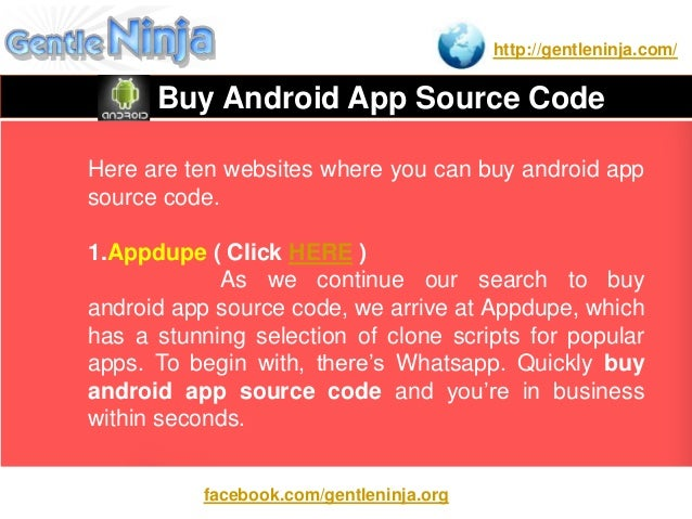Buy Android App Source Code