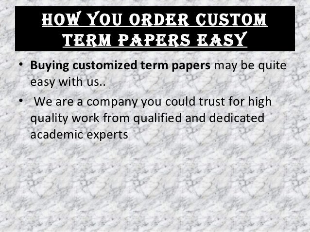Order custom term paper zoology