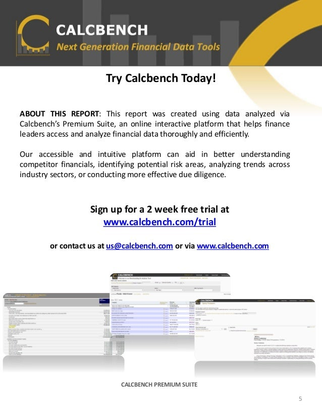Try Calcbench Today! ABOUT THIS REPORT: This report was created using data analyzed via Calcbench's Premium Suite, an onli...