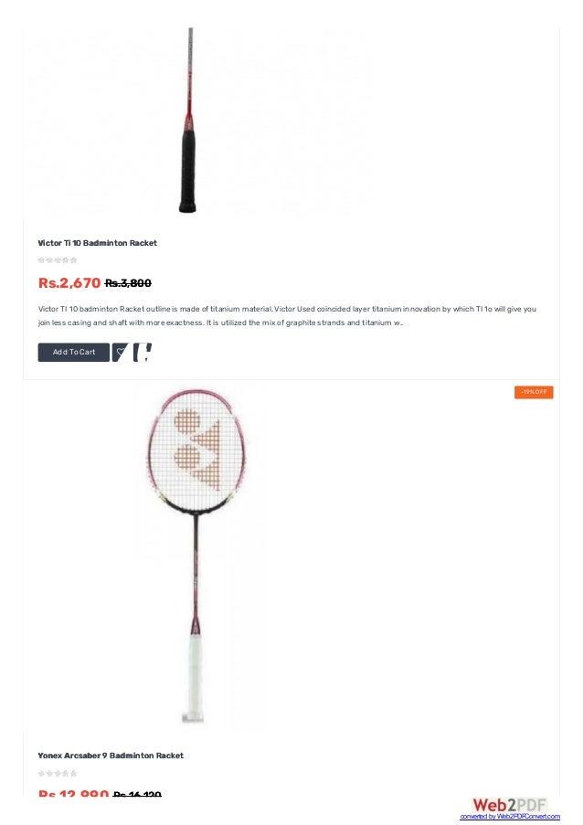 d29ffa591ce ... 49. Add To Cart  AddtoWishList  ComparethisProduct Victor Ti 10  Badminton Racket ...