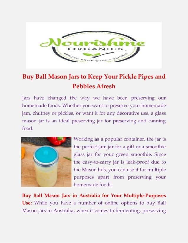 Buy Ball Mason Jars Australia