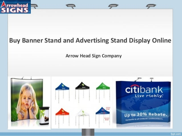 Buy Banner Stand and Advertising Stand Display Online Arrow Head Sign Company