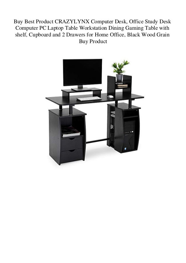 Gaming Computer Desk PC Laptop Table Workstation Home Office with Storage Shelve
