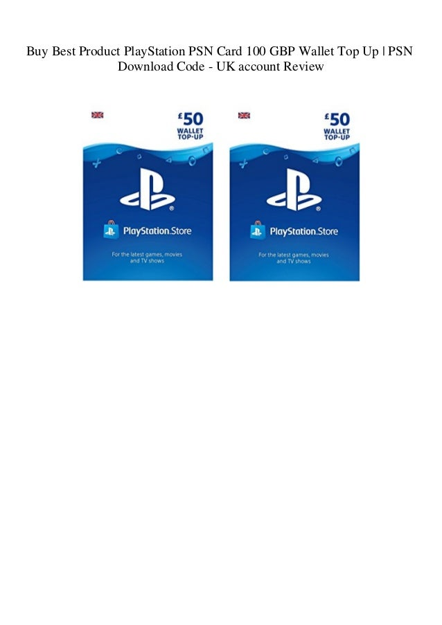 Buy Best Product PlayStation PSN Card 100 GBP Wallet Top Up PSN Down…