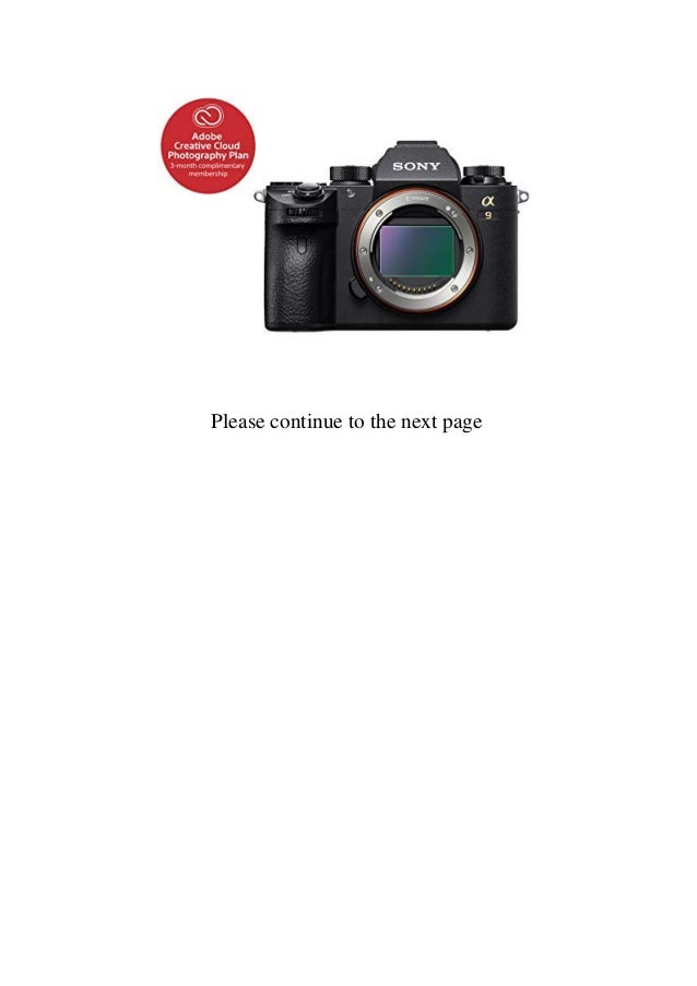 Buy Best Product Sony Alpha a9 Mirrorless Digital Camera 24.2MP Full-…