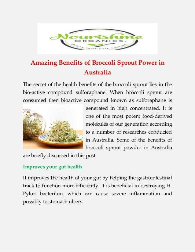 Buy Broccoli Sprout Powder Australia