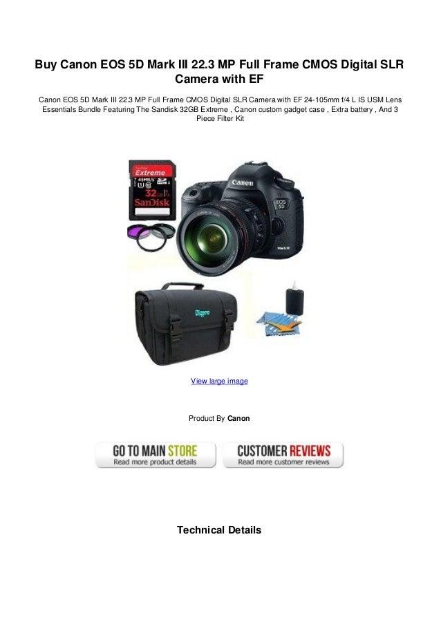 Buy canon eos 5 d mark iii 22.3 mp full frame cmos digital slr camera…