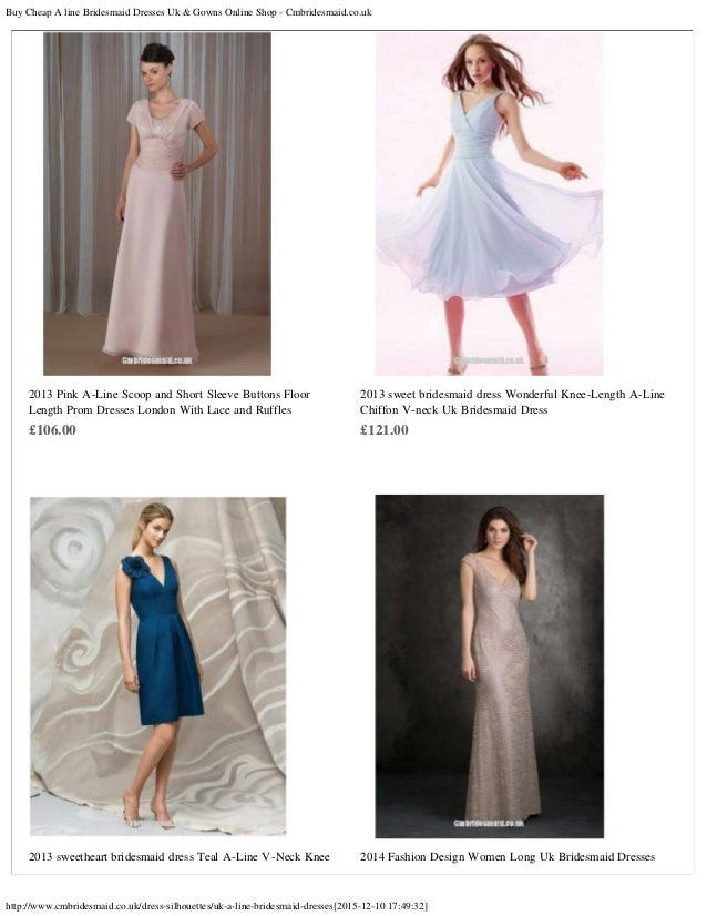 Buy cheap a line bridesmaid dresses uk gowns online shop for Buy wedding dress online cheap