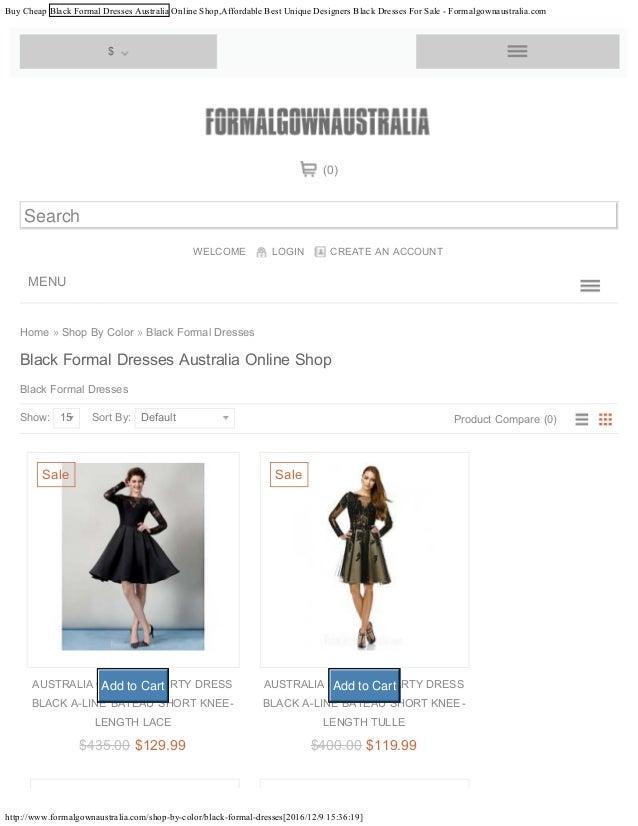 Buy Cheap Black Formal Dresses Australia Online Shopaffordable Best