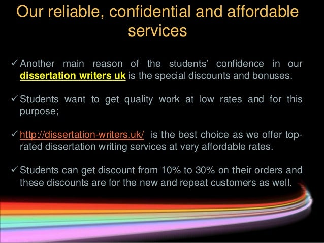 Cheap dissertation writing will