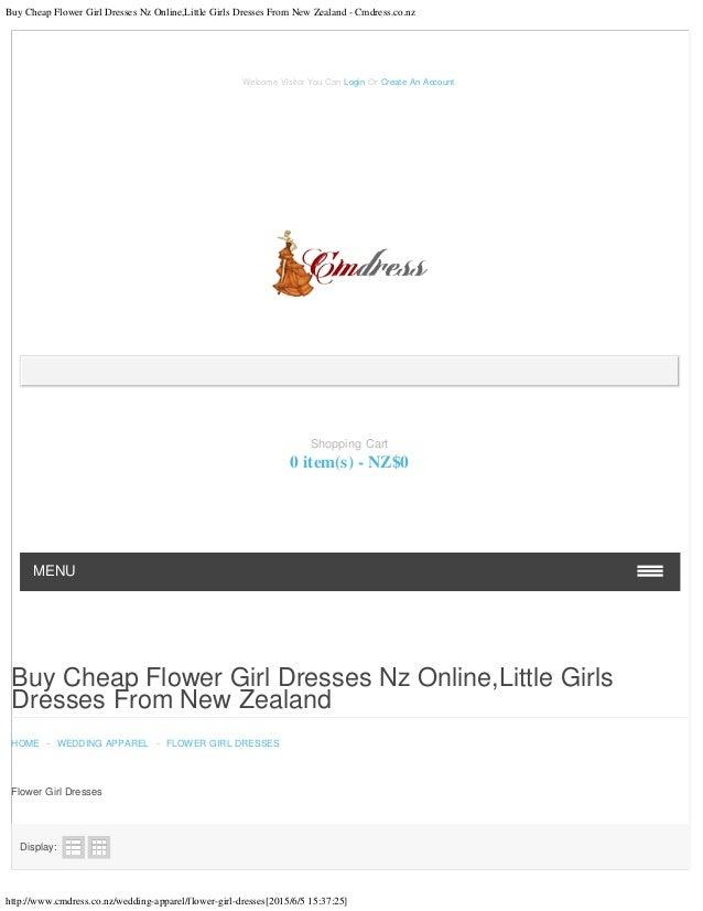 Buy Cheap Flower Girl Dresses Nz Online,Little Girls Dresses From New Zealand - Cmdress.co.nz http://www.cmdress.co.nz/wed...