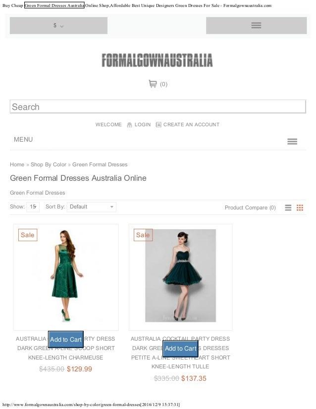 Buy Cheap Green Formal Dresses Australia Online Shopaffordable Best
