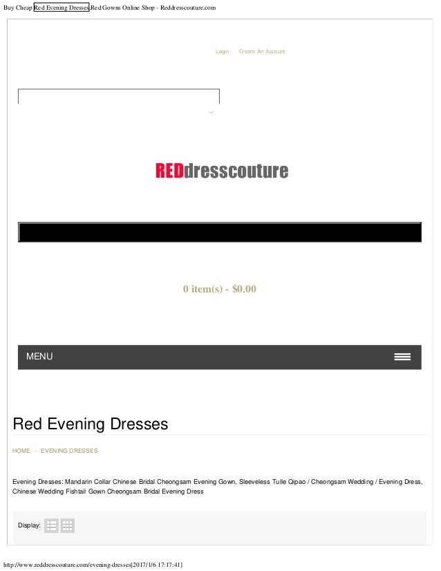 Buy Cheap Red Evening Dresses,Red Gowns Online Shop - Reddresscouture.com http://www.reddresscouture.com/evening-dresses[2...