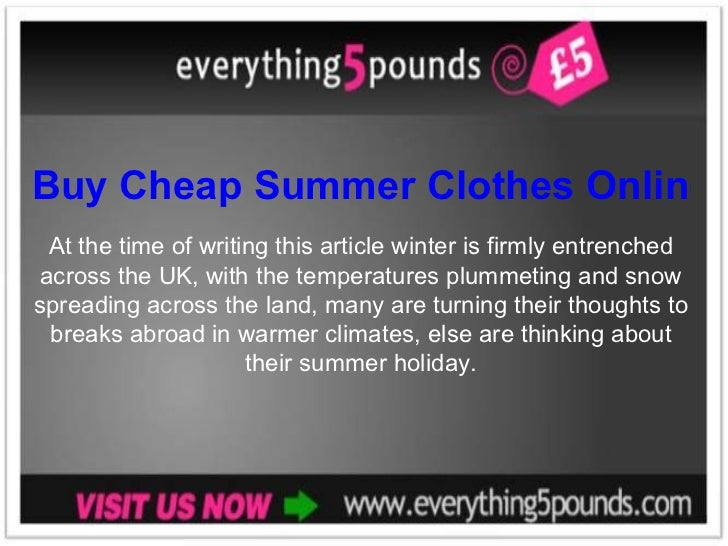 Buy Cheap Summer Clothes Online in the UK