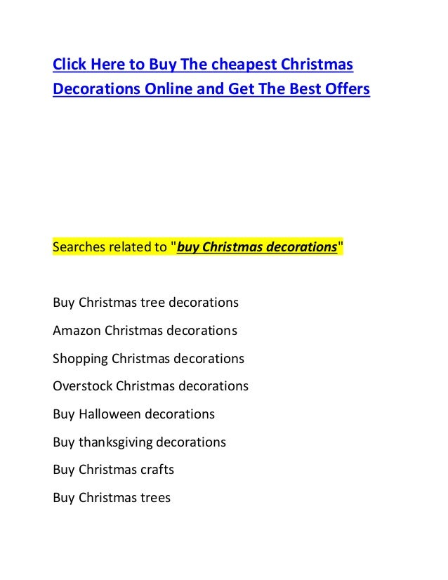 Buy christmas decorations online 2014 2015 for Christmas decorations where to buy